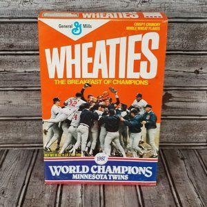 VTG Wheaties Box 1987 MN Twins World Champions